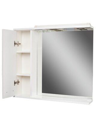 Шкаф-зеркало Cube 80 Эл. левый Домино