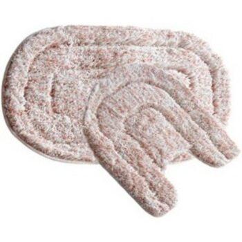 Набор ковриков для ванной комнаты, 50х80+50х50 см, микрофибра, Pink illusion, MID233MS