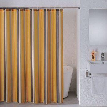 Штора для ванной комнаты, 180*200 см, полиэстер, Quiet Stripes, Milardo, 710P180M11