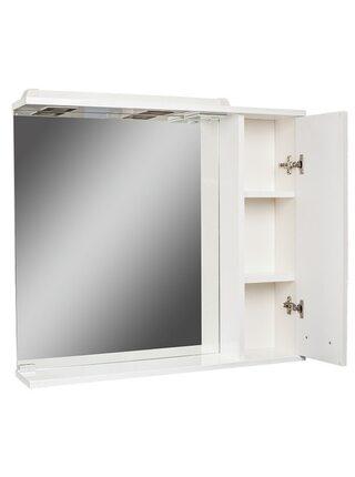Шкаф-зеркало Cube 80 Эл. правый Домино