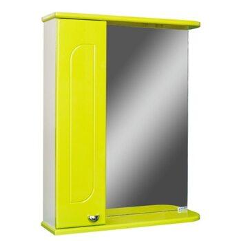 Шкаф-зеркало Радуга Лайм 60 левый АЙСБЕРГ