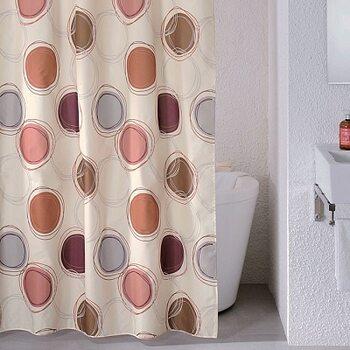 Штора для ванной комнаты, 180*200 см, полиэстер, Sea Stones, Milardo, 690P180M11