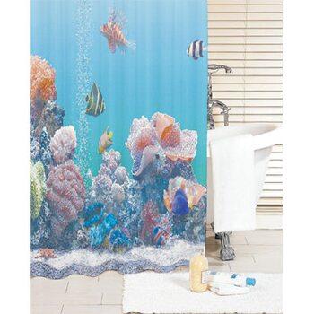 Штора для ванной комнаты, 200*180 см, полиэстер, pacific ocean,SCID190P