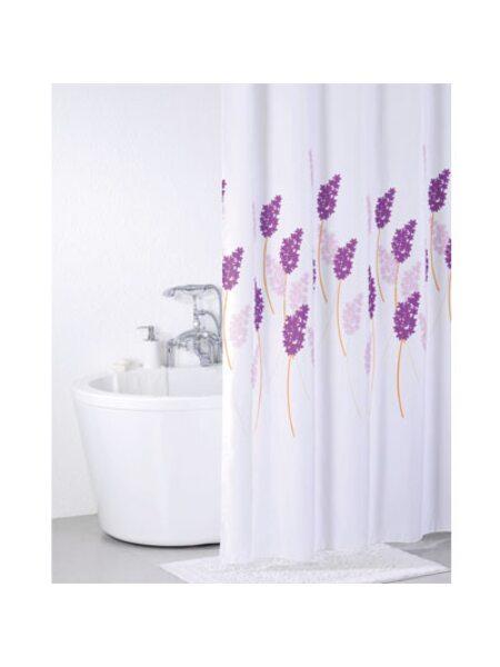 Штора для ванной комнаты, 200*200 см, полиэстер, Lavender Happiness, SCID120P