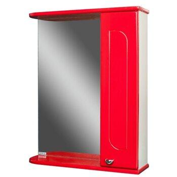 Шкаф-зеркало Радуга Красный 50 правый АЙСБЕРГ