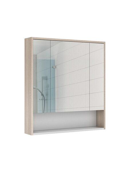 Шкаф-зеркало Prime 80 Дуб сонома Домино