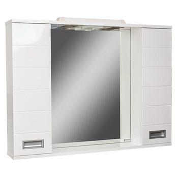 Шкаф-зеркало Cube 90 Эл. Домино