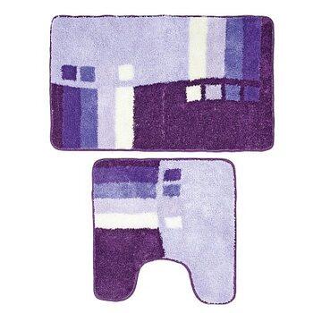 Набор ковриков для ванной комнаты, 50х80+50х50 см, Meteora skies, Milardo, 490PA58M13