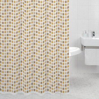 Штора для ванной комнаты, 180*200 см, полиэстер, Classic Tiles, Milardo, 700P180M11