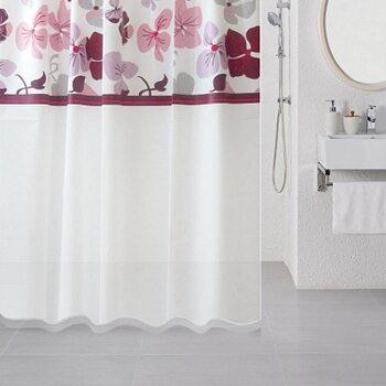 Штора для ванной комнаты, 180*180 см, PEVA, Nemesia, Milardo, 501V180M11