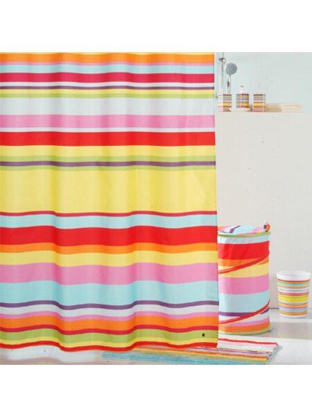 Штора для ванной комнаты, 200*240 см, полиэстер, ID. summer stripes,290P24RI11