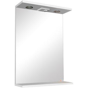 Шкаф-зеркало модульное Грация 55 Эл. Домино