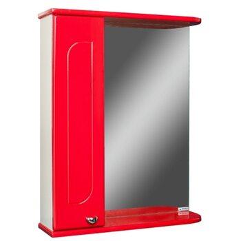 Шкаф-зеркало Радуга Красный 55 левый АЙСБЕРГ