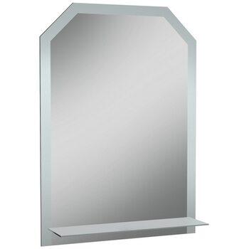 Зеркало Дом 500*700 с полкой мат.Домино