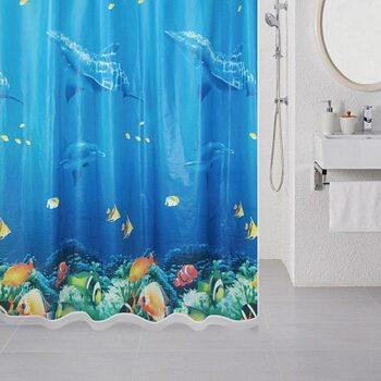 Штора для ванной комнаты, 180*180 см, PEVA, Ocean Floor, Milardo, 520V180M11