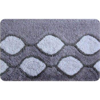 Коврик для ванной комнаты, 50х80см, акрил. Curved Lines, grey, IDDIS, 401A580I12