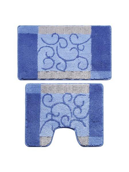 Набор ковриков для ванной комнаты, 50х80 + 50х50 см, Fine Lace, Milardo, 350PA68M13