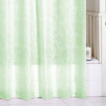 Штора для ванной комнаты, 180*200 см, полиэстер, green leaf, SCMI084P