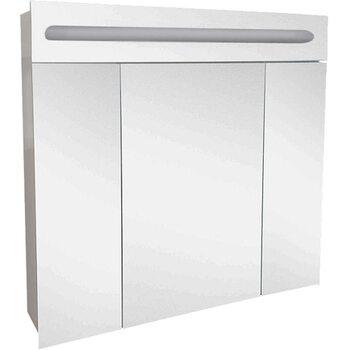 Шкаф-зеркало Аврора 90 с подсветкой LED Домино