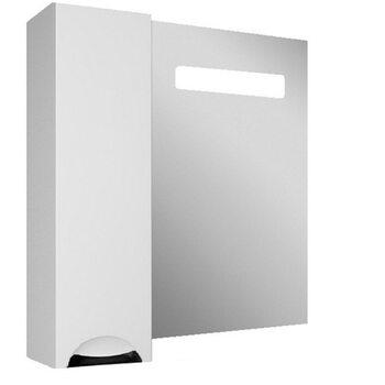 Шкаф-зеркало Грация 65 левый с подсветкой LED Домино