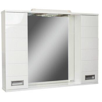 Шкаф-зеркало Cube 100 Эл. Домино