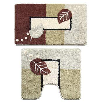 Набор ковриков для ванной комнаты, 50х80 + 50х50 см, Late Autumn, Milardo, 340PA68M13