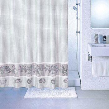 Штора для ванной комнаты, 180*200 см, полиэстер, grey fresco, SCMI012P