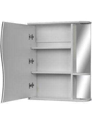 Шкаф-зеркало Волна 1-50 левый АЙСБЕРГ