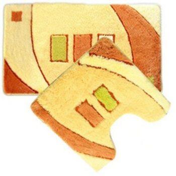 Набор ковриков для ванной комнаты, 50х80+50х50 см, акрил. Gold sands MID090AS