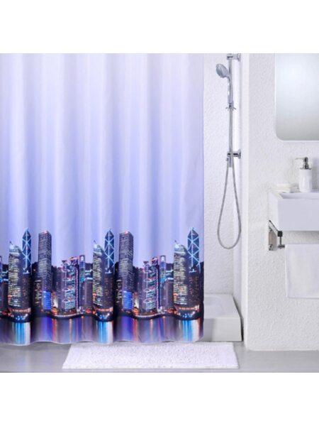 Штора для ванной комнаты, 200*240 см, полиэстер, City, IDDIS, 210P24RI11