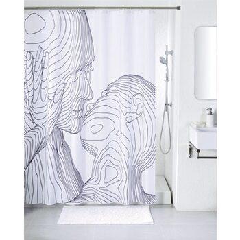 Штора для ванной комнаты, 200*180 см, полиэстер, black&white, SCID150P