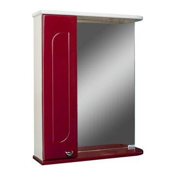 Шкаф-зеркало Радуга Бордовый 55 левый АЙСБЕРГ