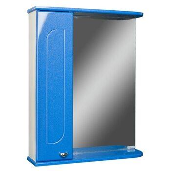 Шкаф-зеркало Радуга Синий металлик 60 левый АЙСБЕРГ