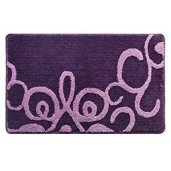Коврик для ванной комнаты, 50х80 см, полиэстер-акрил, Fairyland (violet), Milardo, 471PA58M12