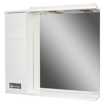 Шкаф-зеркало Cube 75 Эл. левый Домино
