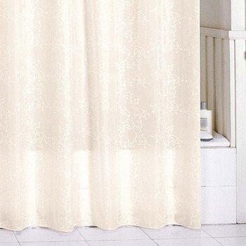 Штора для ванной комнаты, 180*200 см, полиэстер, beige leaf, SCMI082P