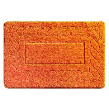 Коврик для ванной комнаты, 50х80 см, микрофибра, Clever Plait (orange), Milardo, 320M580M12