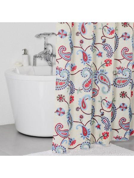 Штора для ванной комнаты, 200*240 см, полиэстер, flourish mosaic,IDDIS, 250P24RI11