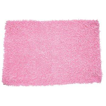 Коврик для ванной комнаты, 50х80 см, хлопок, pink leaf, MID183C