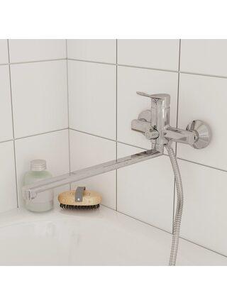 Смеситель для ванны с длинным изливом Amplex