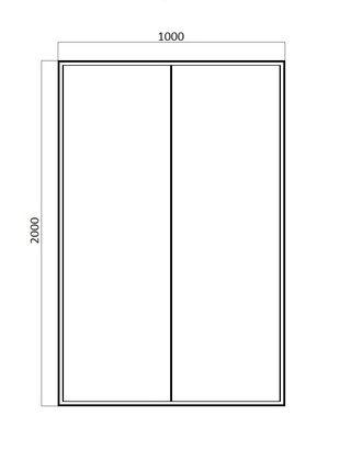 LINE Душевая дверь в нишу 1000x2000 Bravat BD100.4121A