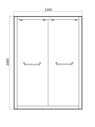 STREAM Душевая дверь в нишу 1200x2000 Bravat BD120.4203S