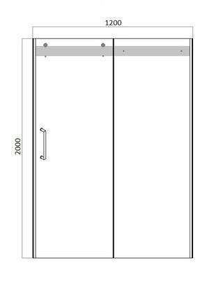 WAVE Душевая дверь в нишу 1200x2000 Bravat BD120.4102S