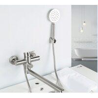 F22801 Смеситель для ванны Frap нержавеющая сталь