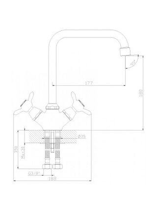 Смеситель для кухни Rossinka Q02-72