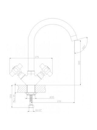 Смеситель для кухни Rossinka Z02-71