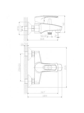 Смеситель для ванны Rossinka T40-31