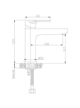 Смеситель для умывальника Rossinka RS33-13
