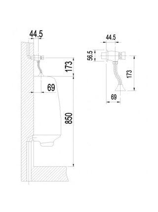 Смывное устройство для писсуара Lemark PROJECT LM4612C