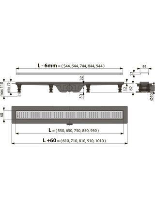 Душевой лоток AlcaPlast Simple APZ8-750M